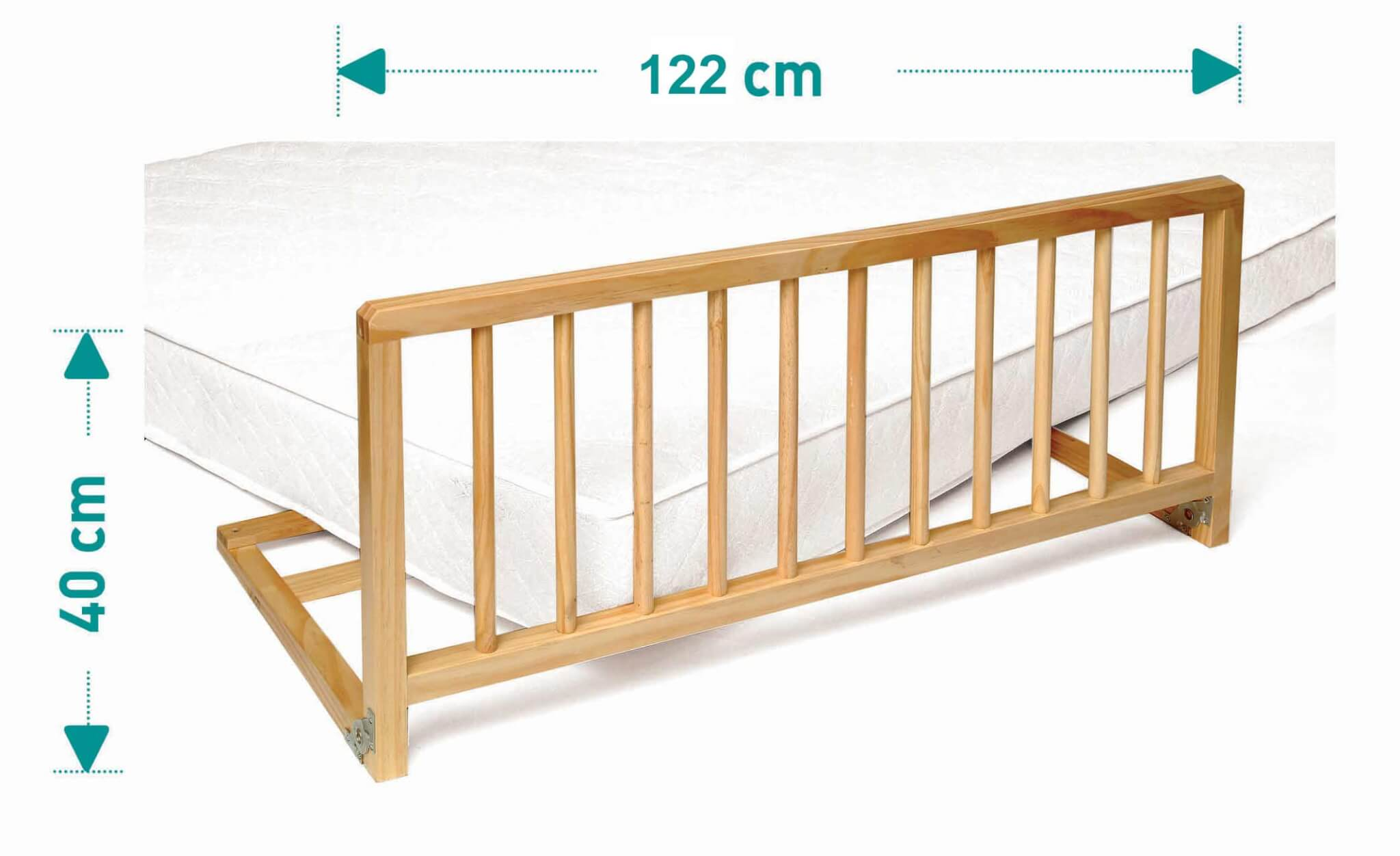 Barriere de lit livia hevea 122cm l nidalys - Barriere de lit but ...