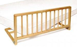 Barrières de lit Livia bois brut